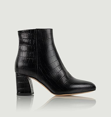 Bottines en cuir façon croco Downtown