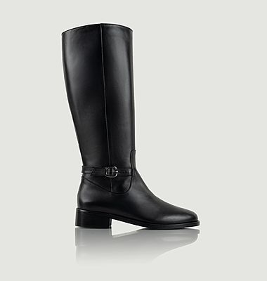 Conquérante leather high boots