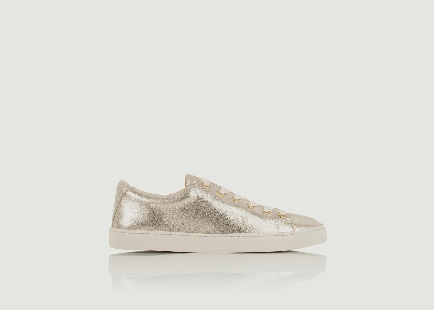 Sneakers en cuir lamé Satinée - Bobbies Paris