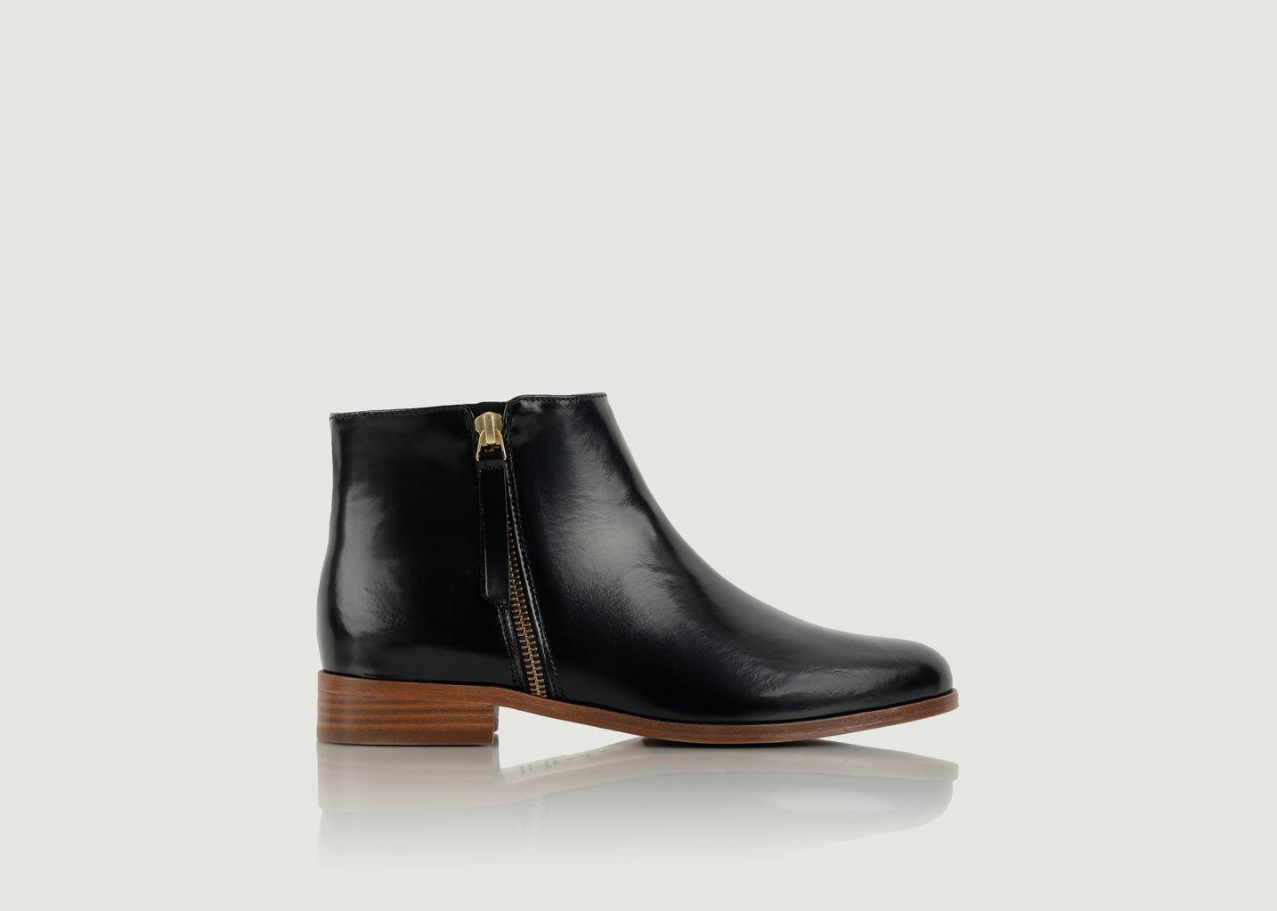 Boots en cuir Groupie - Bobbies Paris