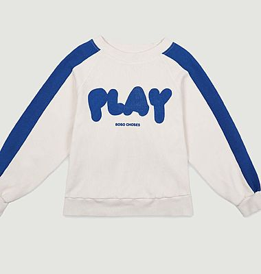Sweatshirt bicolore en coton imprimé Play
