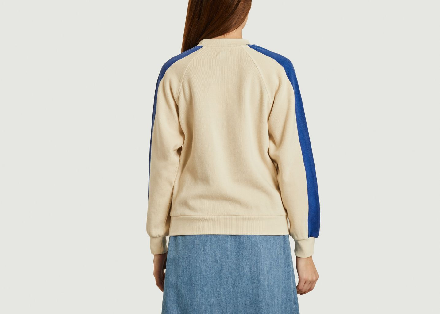Sweatshirt bicolore en coton imprimé Play - Bobo Choses