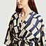 matière Kimono en lyocell et lin imprimé rectangles  - Bobo Choses