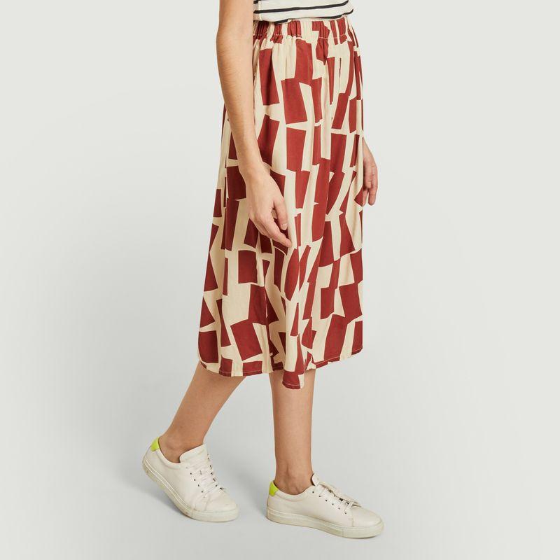 Pantalon court large imprimé rectangles - Bobo Choses