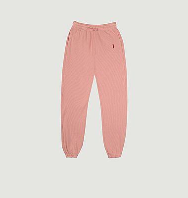 Pantalon de jogging brodé en coton
