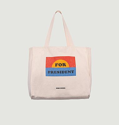 Tote bag en coton imprimé For President