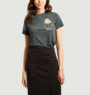 T-shirt en coton bio imprimé Translator