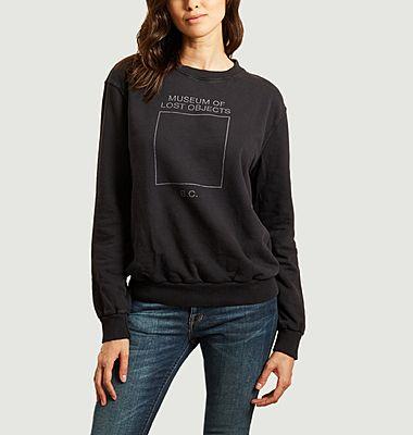 Sweatshirt imprimé en coton bio
