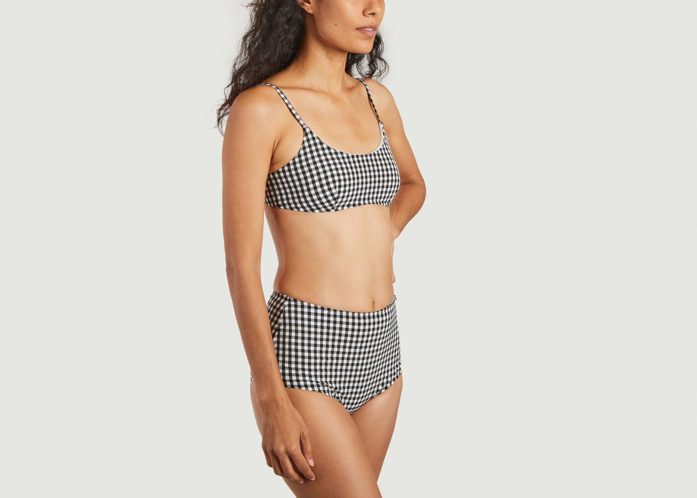 Maillot 2 pièces vichy taille haute - Bohodot