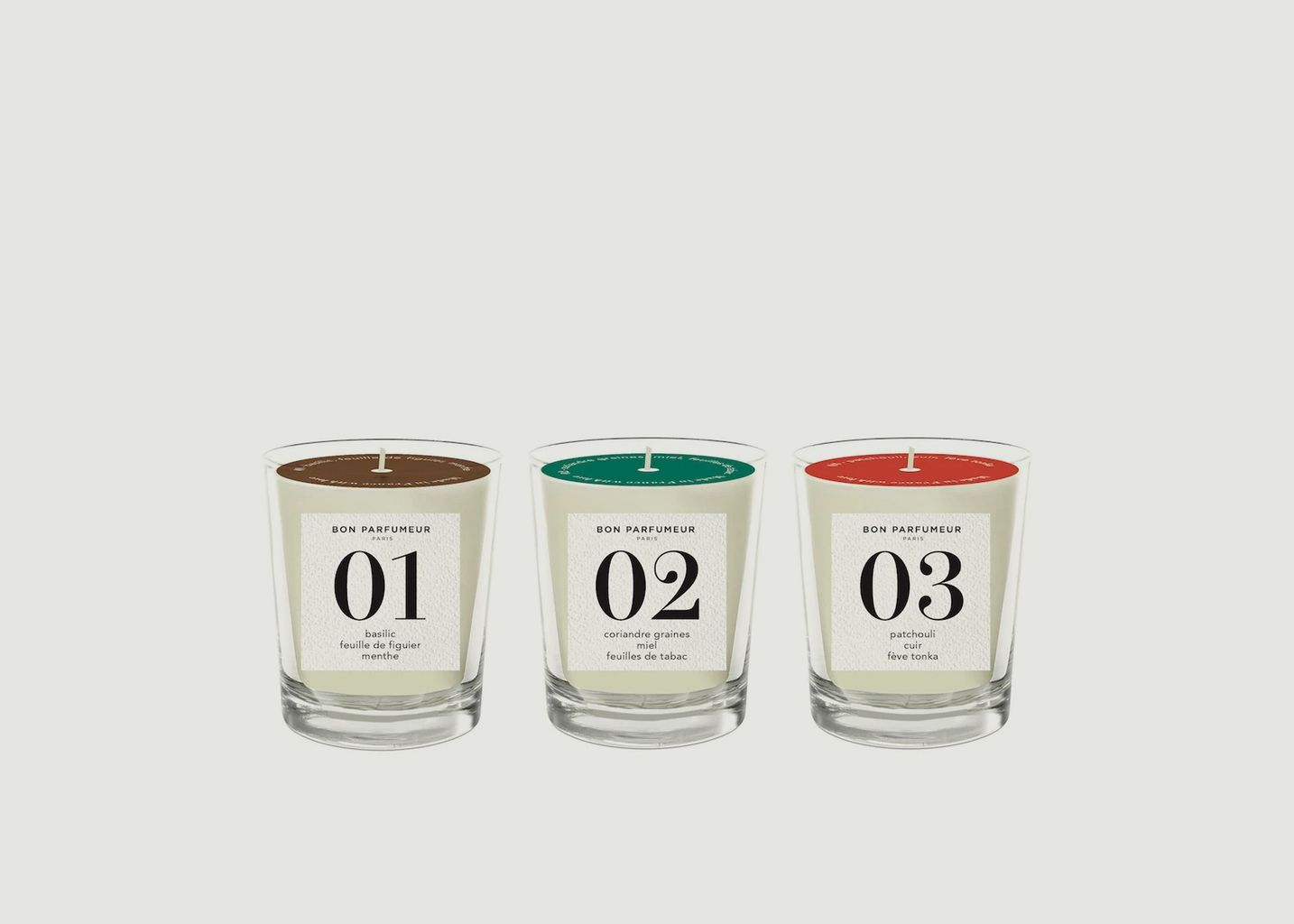 Coffret 3 Mini Bougies - Bon Parfumeur