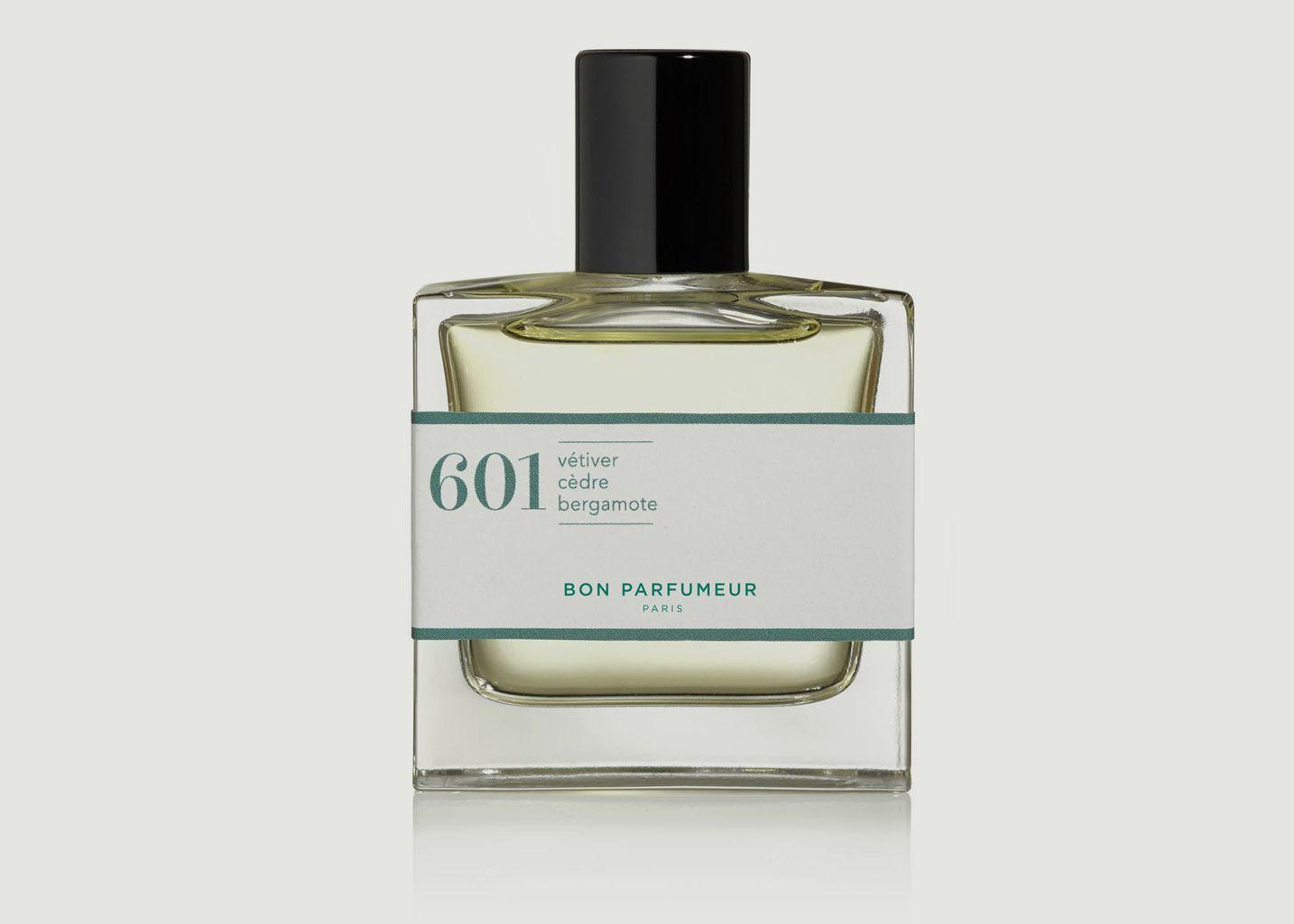 Eau de Parfum 601 Vétiver Cèdre Bergamote Boisé - Bon Parfumeur