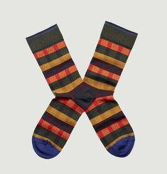 Striped and Squares Socks