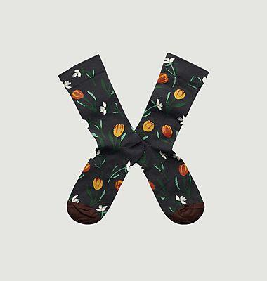 Tulip Socks Faux Black