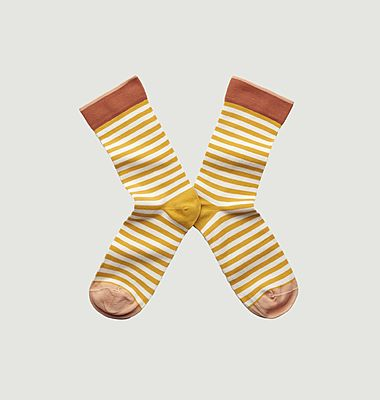 Chaussettes Rayure Bouton d'or