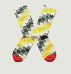 Elephant Chequered Socks