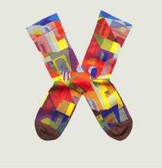 Chaussettes Motif Ville Multicolore