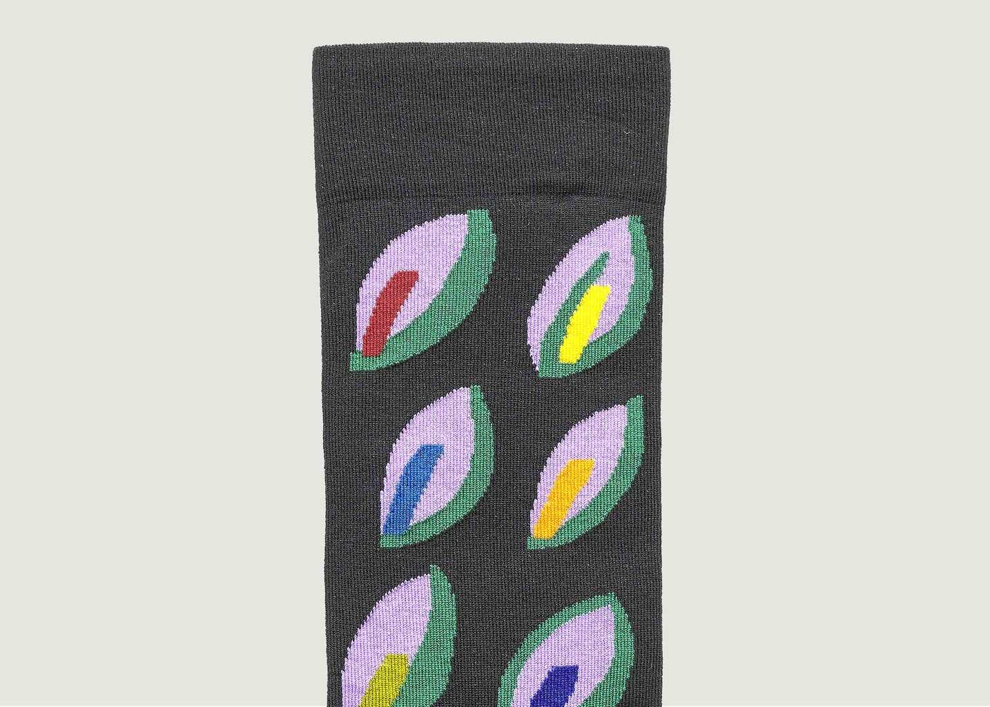 Chaussettes Motif Feuilles Multicolores - Bonne Maison