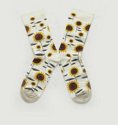 Sunflowers pattern socks