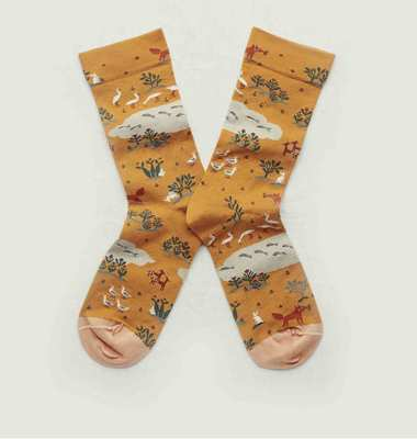 Renard pattern socks