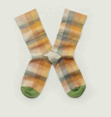 Chaussettes motif à carreaux