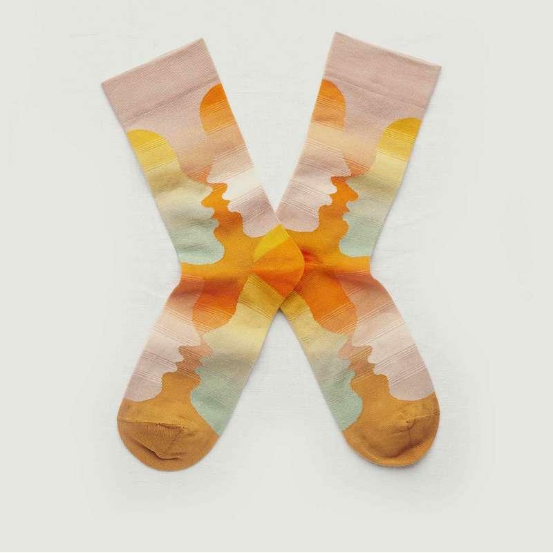 Chaussettes motif Visage  - Bonne Maison