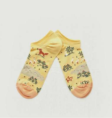 Renard pattern ankle socks