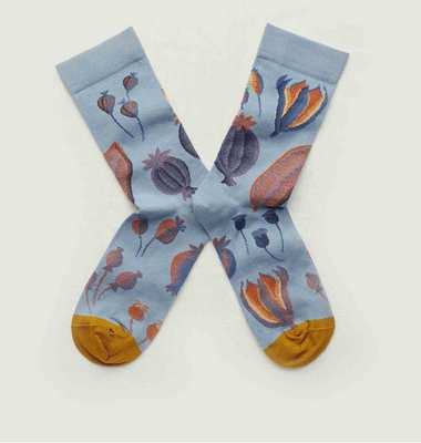 Graine floral pattern socks