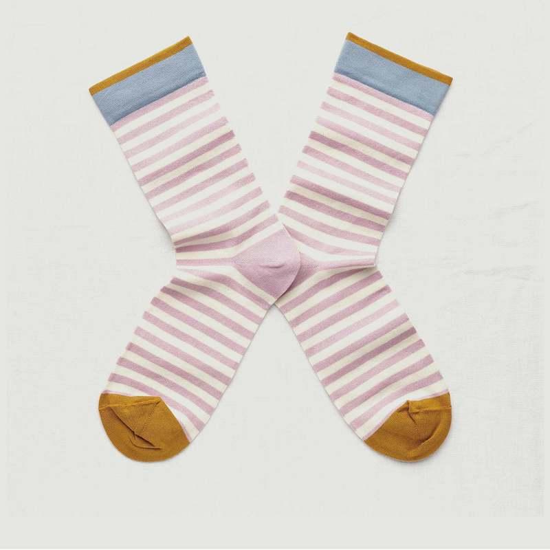 Chaussettes rayées à bords contrastés - Bonne Maison