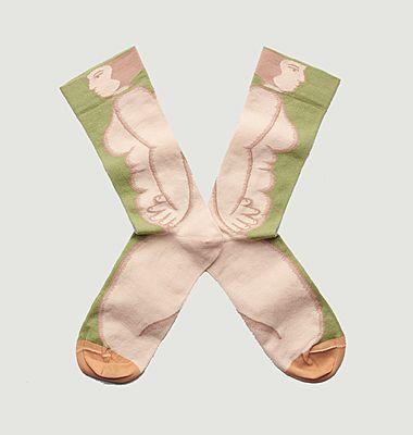Chaussettes à motif femme Nue Mousse