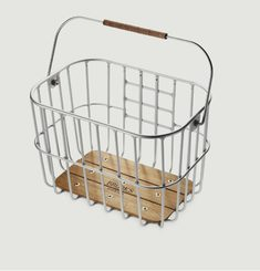 Hoxton Metal And Wood Wire Basket