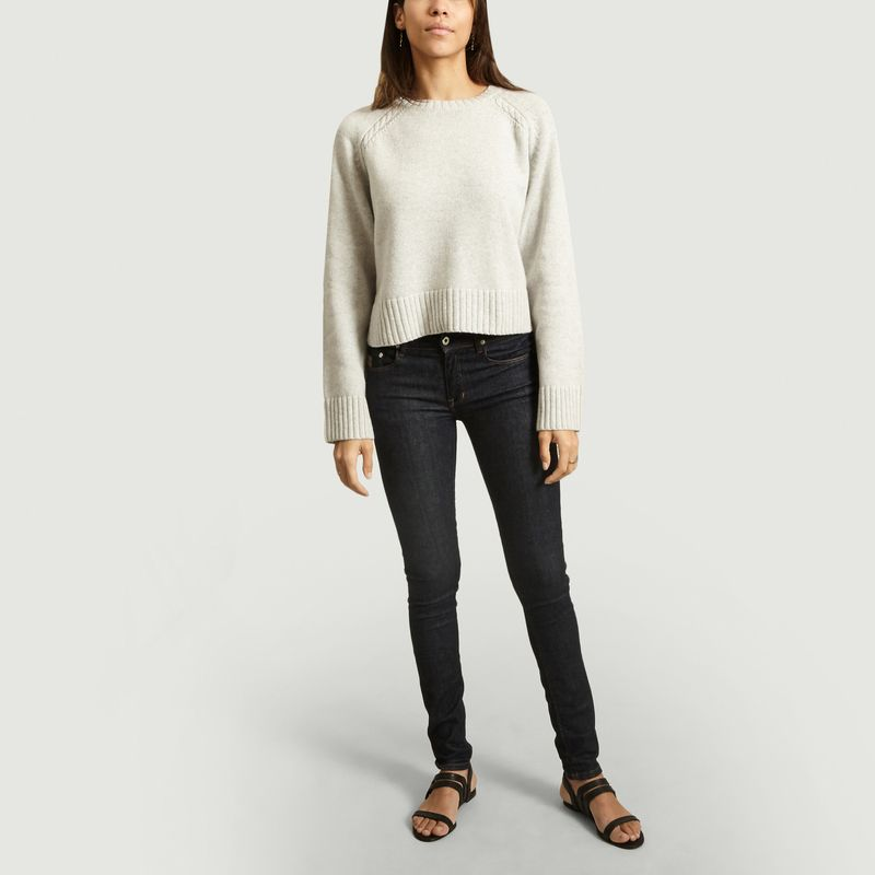 Pull Alvia coupe cropped manches torsadées - By Malene Birger