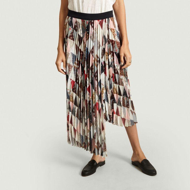 Jupe plissée imprimée patchwork Piza - By Malene Birger