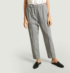 Othilia houndstooth pattern trousers