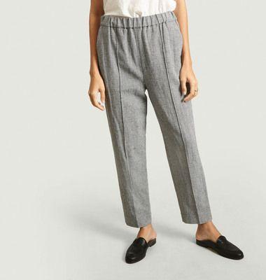 Pantalon motif pied-de-poule Othilia