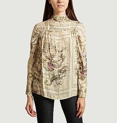 Beaune printed blouse