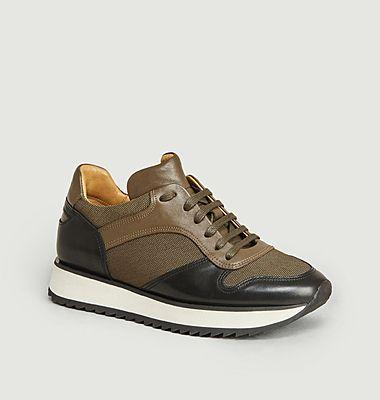 Sneakers de running effet cuir et textile Loula
