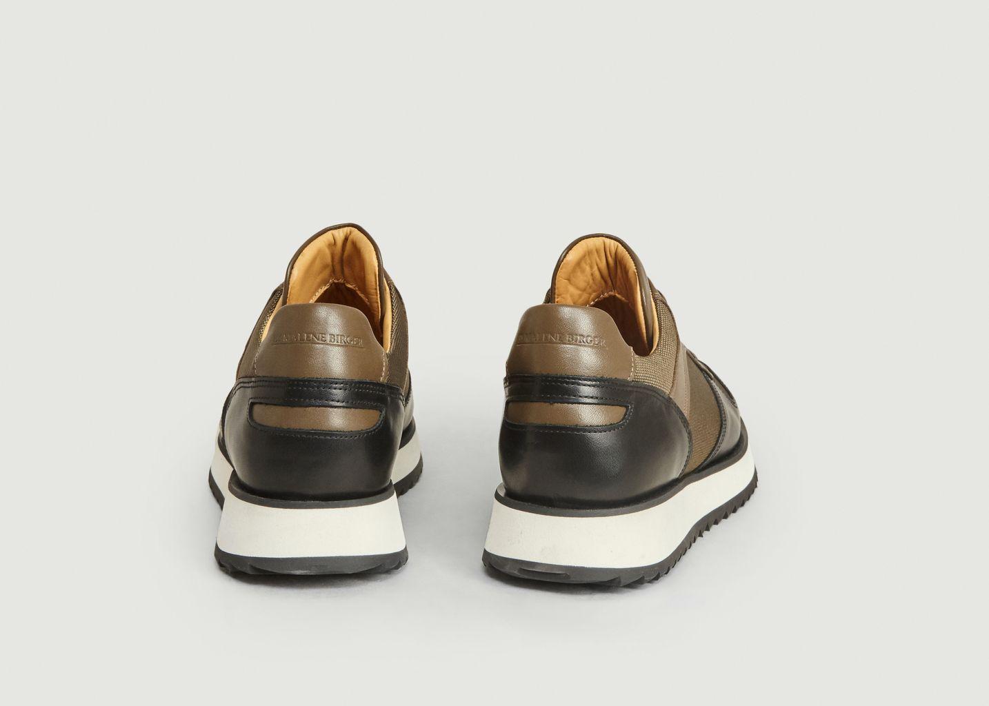 Sneakers de running effet cuir et textile Loula - By Malene Birger