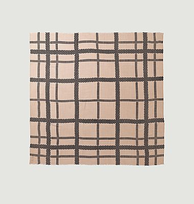 Milou checked wool square scarf