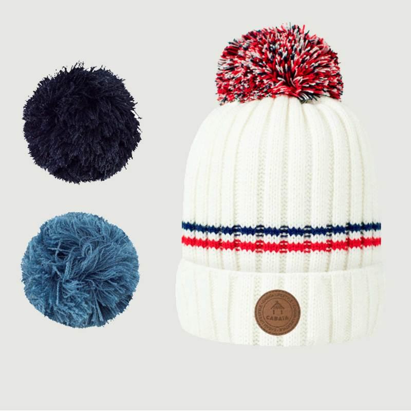 Bonnet Avec 3 Pompons Manhattan - Cabaïa