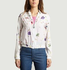 Floral Printed Ruched Jacket