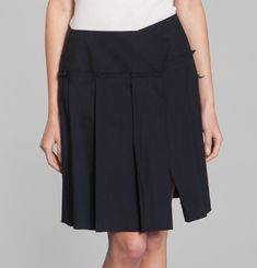 Bistretch Wool Skirt