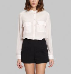 Crepe Pocket Blouse
