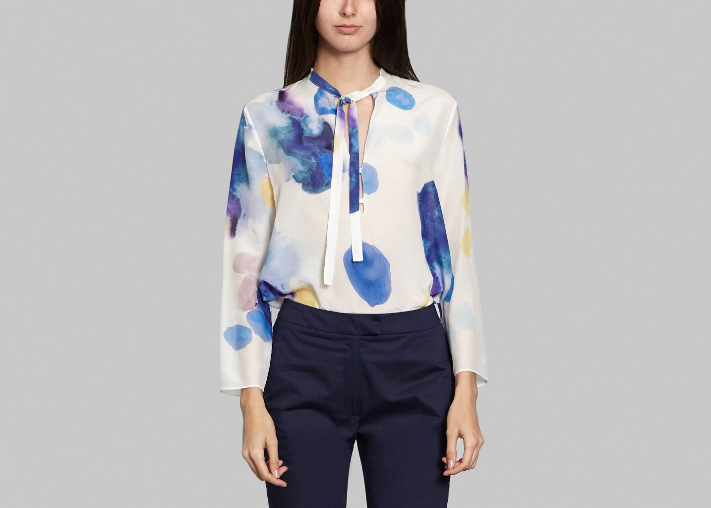 Blouse Col Cravate - Cacharel