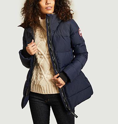 Hybridge warm hooded down jacket