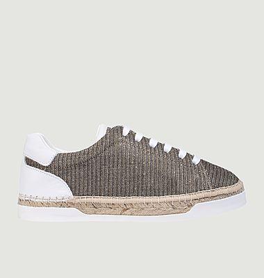 Sneakers en cuir et lurex Lancry