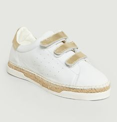 Lancry Leather Velcro Trainers