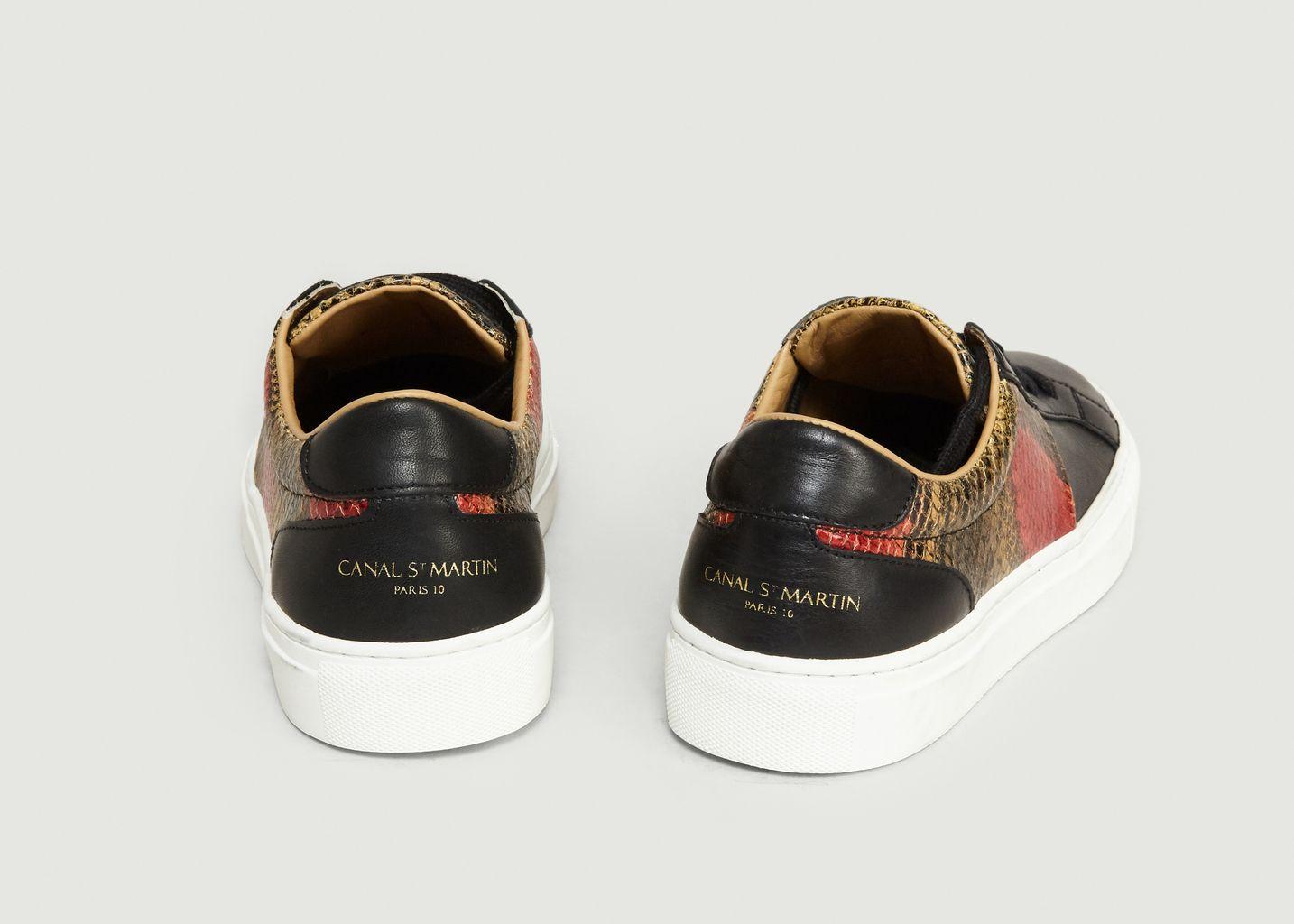 Sneakers Empiècement Effet Python Louis - Canal Saint Martin
