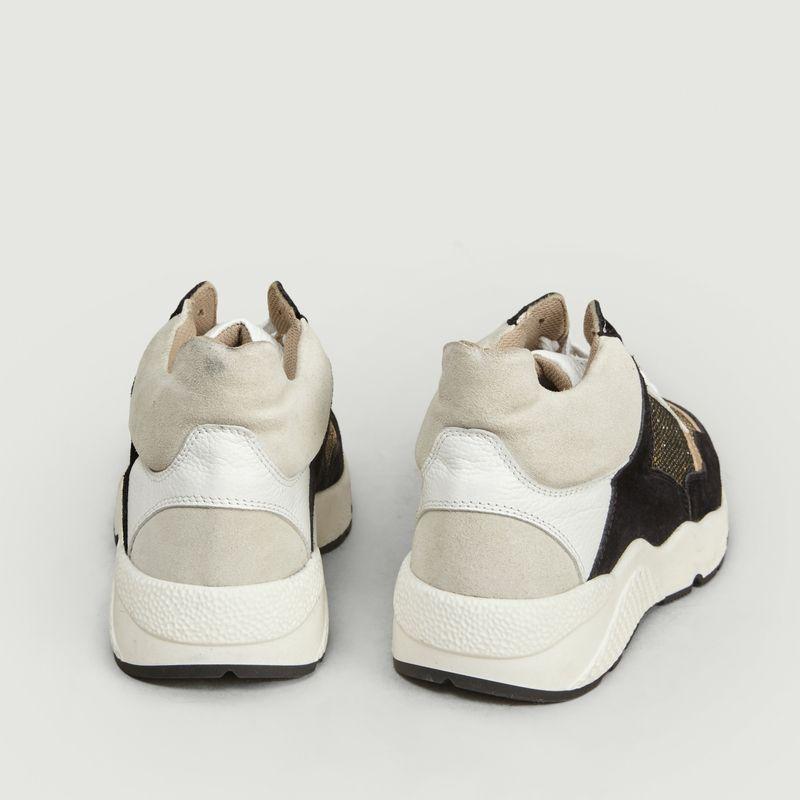 Sneakers semi-montantes en cuir et tissu Henri - Canal Saint Martin