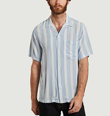 Chemise manches courtes rayée Foley
