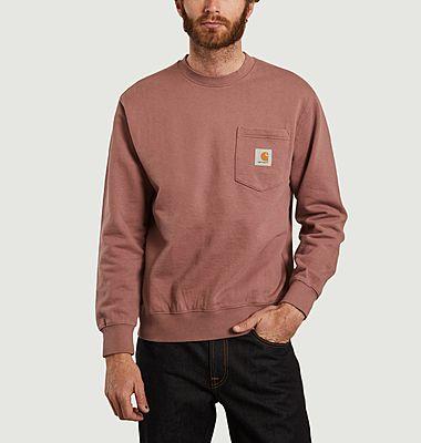 Sweatshirt poche en coton